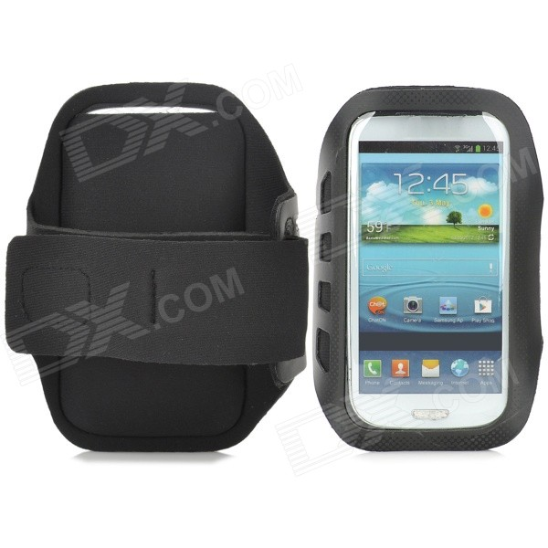 все цены на  Stylish Sports Gym Neoprene Armband Case for Samsung Galaxy S4 i9500 / S3 i9300 - Black  онлайн