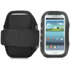 Stylish Sports Gym Neoprene Armband Case for Samsung Galaxy S4 i9500 / S3 i9300 - Black