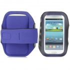 Stylish Sports Gym Neoprene Armband Case for Samsung Galaxy S4 i9500 / S3 i9300 - Purple + Black