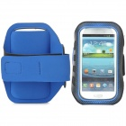 Stylish Sports Gym Neoprene Armband Case for Samsung Galaxy S4 i9500 / S3 i9300 - Blue + Black