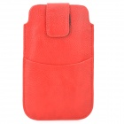 Stylish Protective PU Leather Pouch Bag for Samsung i9220 / N7100 - Red