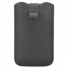 LZW-7100 Stylish Protective PU Leather Pouch Bag for Samsung i9220 / N7100 / i9300 - Black