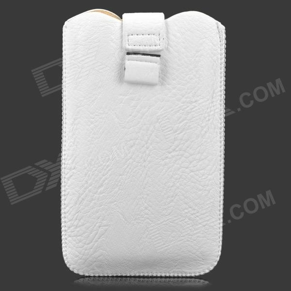 LZW-7100 Stylish Protective PU Leather Pouch Bag for Samsung i9220 / N7100 / i9300 - White
