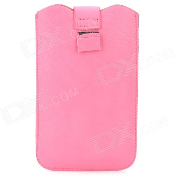 LZW-7100 Stylish Protective PU Leather Pouch Bag for Samsung i9220 / N7100 / i9300 - Deep Pink