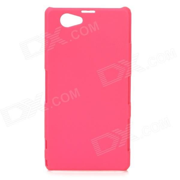 Protective Frosted ABS Back Case for Sony Xperia Z1 Mini / Xperia Z1S / Xperia Z1 f - Deep Pink