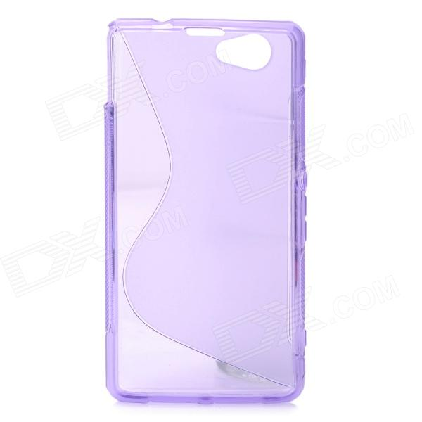 Anti-Slip S Style Protective TPU Back Case for Sony Xperia Z1 Mini / Xperia Z1S - Purple protective pc tpu back case for iphone 5 w anti dust cover lavender purple