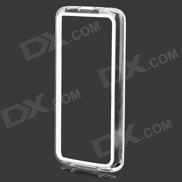 S-What Protective PC + TPU Bumper Frame Case for LG G2 - White + Transparent