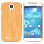 Wood Grain Style Protective Plastic Back Case for Samsung Galaxy S4 i9500 - Wood Color