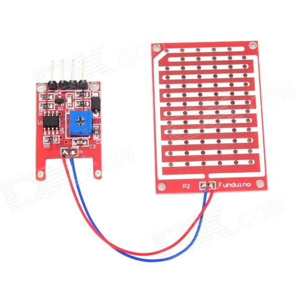 Arduimo Raindrop Humidity Test Sensor Module - Red new and original zd 70n optex photoelectric switch photoelectric sensor npn output