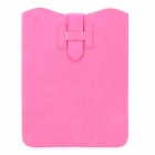 "Lychee Pattern Protective PU Leather 10"" Case Sleeve - Deep Pink"