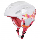 PROPRO SHM-001 Stilvolle Outdoor Sports ABS + EPS Warm Skihelm - White + Deep Pink
