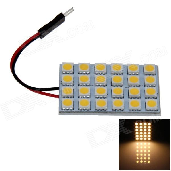 T10 / BA9S / Festoon 4W 200lm 24 x SMD 5050 LED Warm White Car Reading Light / Panel Light - (12V)