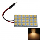 T10 / BA9S / Girlande-4W 200lm 24 x SMD 5050 LED Warm White Car-Leselicht / Panel Light - (12V)