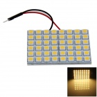 T10 / BA9S / Girlande-8W 400lm 48 x SMD 5050 LED Warm White Car-Leselicht / Panel Light - (12V)