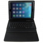 P1316 Wireless Bluetooth V3.0 64-Key Keyboard + PU Leather Case Cover for Ipad AIR - Black
