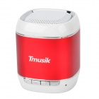 Tmusik A9 Bluetooth V2.1 5W Speaker w/ 3.5mm / USB 2.0 for Iphone 5 / 4 / 4s + More - Red + White