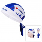 NUCKILY BD3542 Outdoor Sports Cycling Quick Dry Headscarf - White + Blue