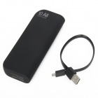 "YSbao S4 ""10000mAh"" Portable Power Source Bank w/ Flashlight for Iphone / Samsung + More - Black"