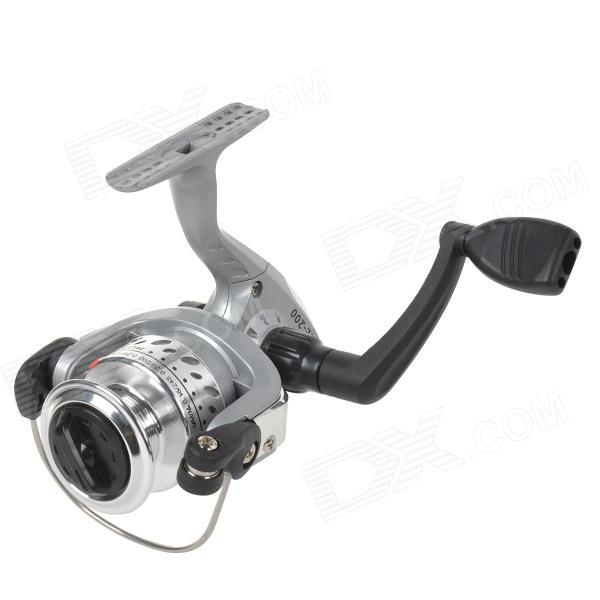 A200 Steel Fishing Reel - Black + Silver