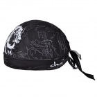 CHEJI Stylish Bike Riding Head Scarf - Black + White