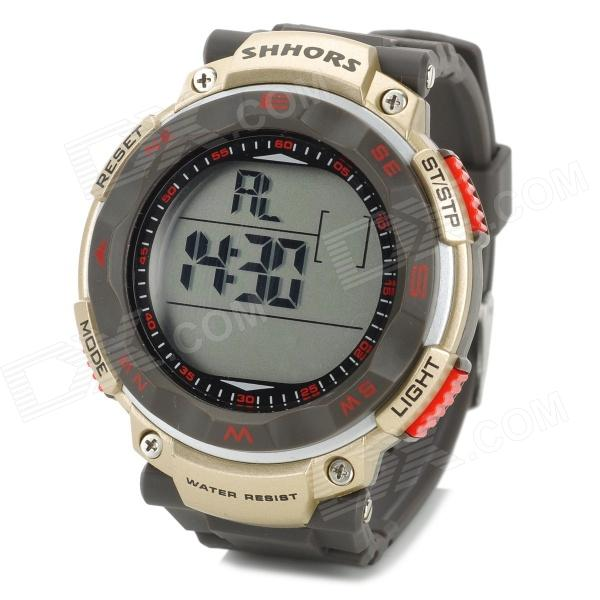 Sports Men's Waterproof Digital Wrist Watch - Golden (1 x CR2025)