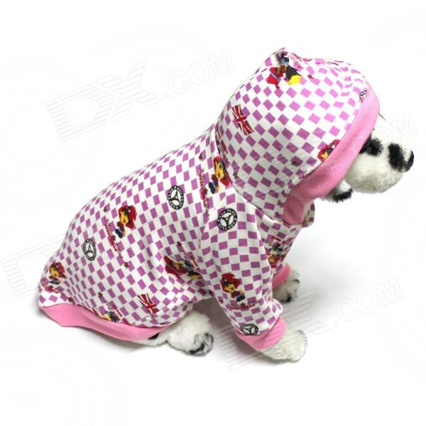 Stylish Cotton Pet Clothes Sweater - de color rosa oscuro (tamaño-L)