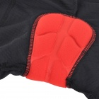 Cycling Antibacterial Silicone Cushion Underpants for Women - Black (XL)