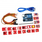 KEYES DIY Arduino Electronic Blocks Sensor Kit - Red + Blue + Multicolored