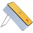 W WY-01126 Mini 200W Heater w/ Stand - White + Yellow (2-Flat-Pin Plug / 220V)