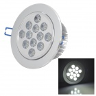 HESION HS020012 12W 1080lm 6000K 12-LED White Light Ceiling Lamp - Silver (AC 85~265V)