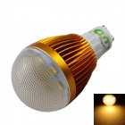 LUO GU10 7W 600lm 3000K 16 x SMD 5630 LED Warm White Light Bulb - Golden + Transparent (85~265V)