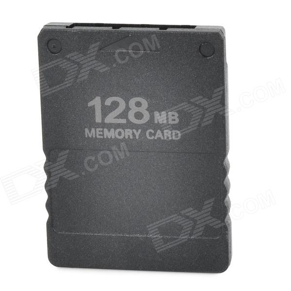 Plastic Memory Card for PS2 - Black (128MB) non standard die cut plastic combo cards die cut greeting card one big card with 3 mini key tag card