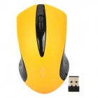 METOO E6 2.4GHz Wireless 1600dpi Optical Mouse - Black + Yellow (1 x AA)