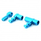 HSP 122057 Aluminum Alloy Steering Servo Saver Complete for 1/10 R/C Car Model - Blue