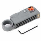 ABS Adjustable Coaxial / Flat / Twisted Wire / Cable Stripper - Orange + Grey