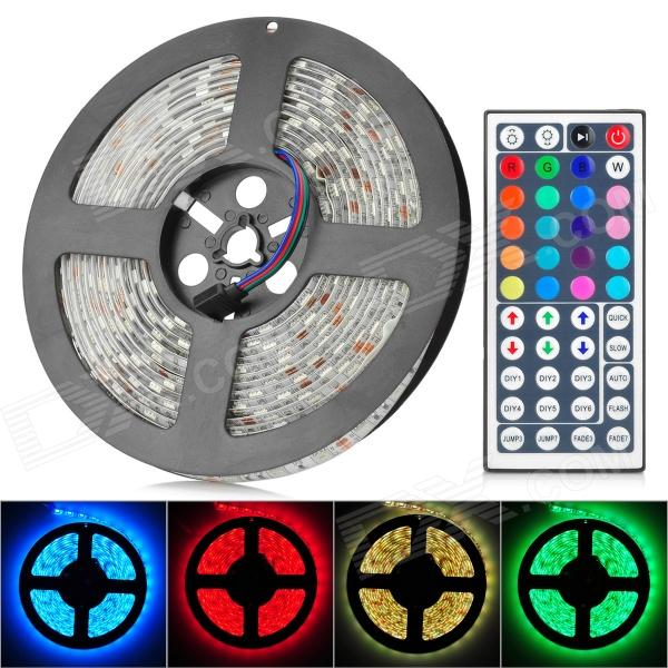 JRLED 72W 4500lm 300-SMD 5050 LED RGB Light Strip w/ 44-Key Controller (12V / 5m) decoration strip lamp 5m 300 x 5050 smd led 3000 lumens rgb highlight led string light with infrared controller and charger