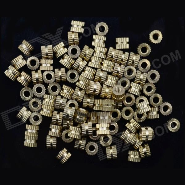Jtron M3 Brass Flower Screw Nut / Die Cast Screw Nut / Mosaic Screw Nut - (100 PCS)