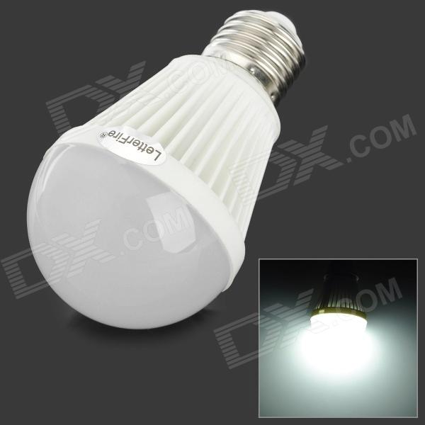 LetterFire G-OO7 E27 7W 300lm 6000K 30-SMD 2835 LED White Light Bulb (AC 85~265V) e27 9w 760lm 6000k 30 smd 2835 led white light bulb ac 85 265v