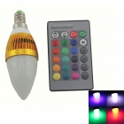 Zweihnder E14 3W 180lm LED RGB Light Lamp Bulb w/ Remote Controller - White + Golden (85~265V)