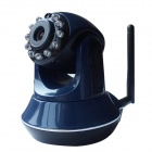 "M8800 1/4"" CMOS 1.0 MP Wireless Network Surveillance IP Camera w/ 11-IR LED / Free DDNS / TF - Blue"