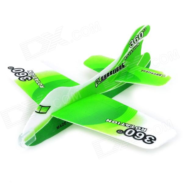 DIY Foam 360 Degree Flying Back Aircraft Model Toy - Grass Green + White 37cm resin plane model a320 airplane model china eastern qinghai airlines aircraft model china eastern airways aviation model