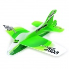 DIY Foam 360 Degree Flying Back Aircraft Model Toy - Grass Green + White