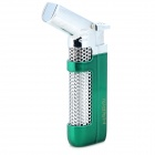 Windproof 1300'C Butane Jet Gas Lighter for Soldering / Lighting Cigarette - Green + Silver