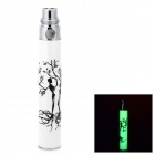 EGO Y2 Rechargeable Glow-in-the-Dark Electronic Cigarette Battery Pole - White + Silver