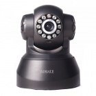 Free DDNS P2P SOMAKE SK-Y01 1.0 MP CMOS 720P Network IP Camera w/ Wi-Fi / 10-IR LED - Black