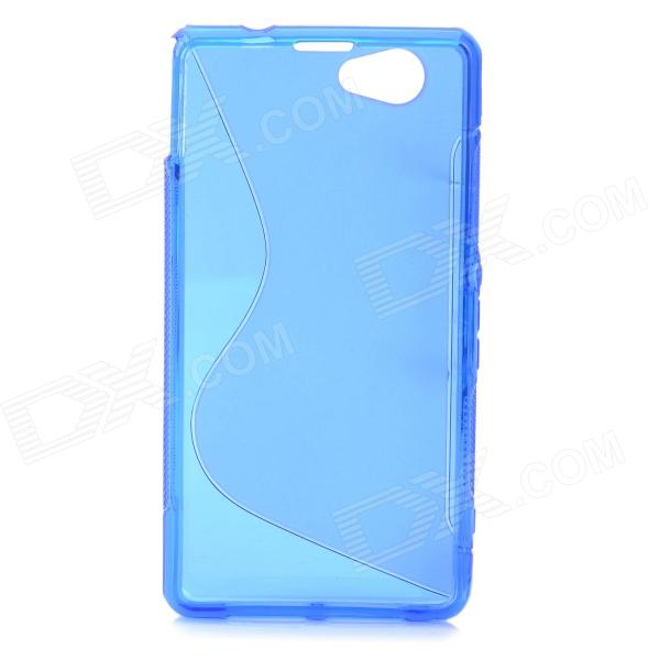 Anti-Slip S Style Protective TPU Case for Sony Xperia Z1 Mini / Xperia Z1S / Xperia Z1 f - Blue protective anti slip s pattern tpu case for sony xperia e1 purple