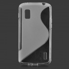 Anti-Rutsch-TPU Case + PET-Schutz-Film für LG E960 Nexus 4 - Transparent Weiß