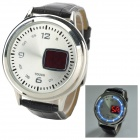 Fashion Men's LED Touch Screen Digital Wrist Watch - Black + Silver (1 x CR2032)