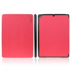 ENKAY ENK-3151 3-Fold Protective PU Leather Case Cover Stand w/ Auto Sleep for Ipad AIR - Red
