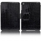 Angibabe Crocodile Pattern PU Leather Case Stand w/ Auto Sleep Cover for Retina Ipad MINI - Black